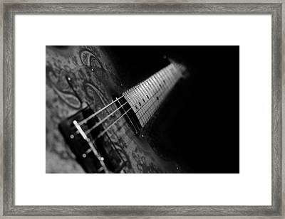 Fender In Paisley Framed Print by Mark Rogan
