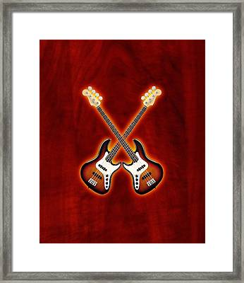 Fender Jazz Bass Lefty Framed Print
