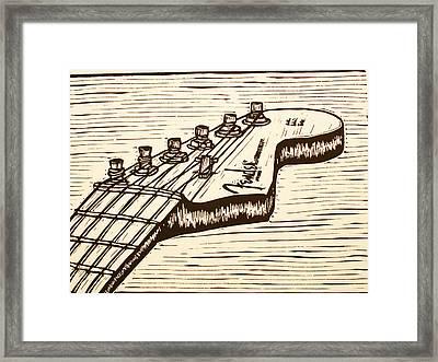 Fender Strat Framed Print by William Cauthern
