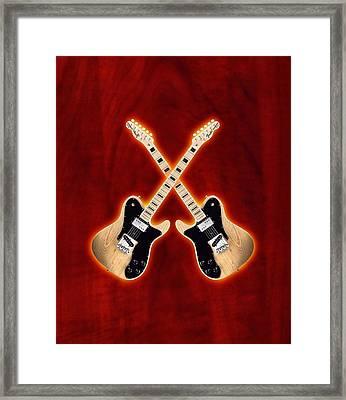 Fender Telecaster Custom Framed Print by Doron Mafdoos