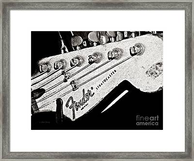 Fender  Watercolor Framed Print by Chris Berry