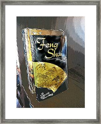 Framed Print featuring the painting Feng Shui Abstract - Small by Nik Helbig