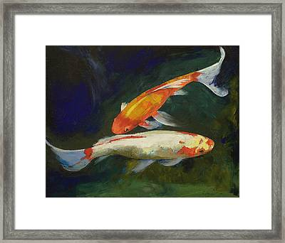 Feng Shui Koi Fish Framed Print by Michael Creese
