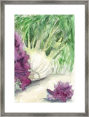 Fennel And Friend Framed Print by Maria Hunt