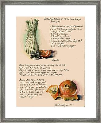 Fennel Salad Framed Print by Alessandra Andrisani