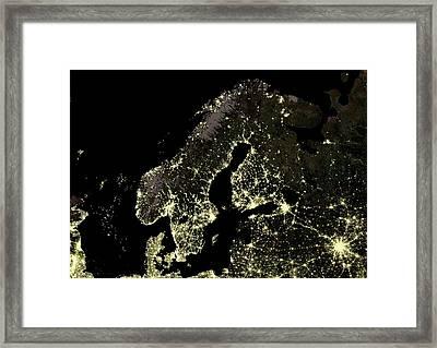 Fennoscandia At Night Framed Print