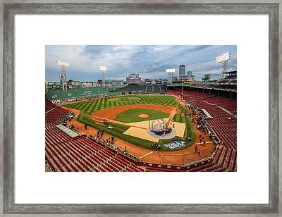 Fenway Before The Storm Framed Print