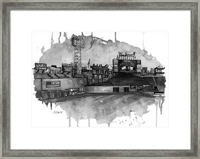 Fenway Bw Framed Print by Michael  Pattison