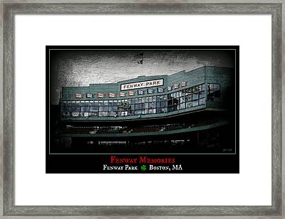 Fenway Memories - Clover Edition Framed Print by Stephen Stookey