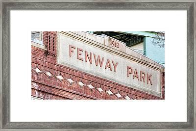 Fenway Park 1912 Framed Print