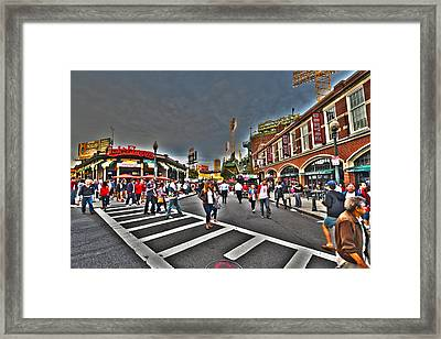 Fenway Park And Cask And Flagon Framed Print by Toby McGuire