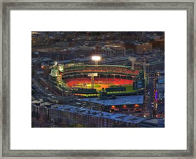 Fenway Park At Night - Boston Framed Print by Joann Vitali