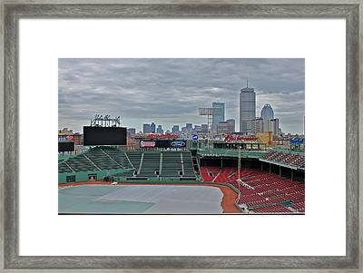 Fenway Park Boston Framed Print by Amazing Jules