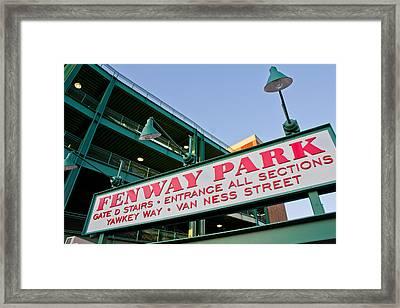 Fenway Park Boston Framed Print