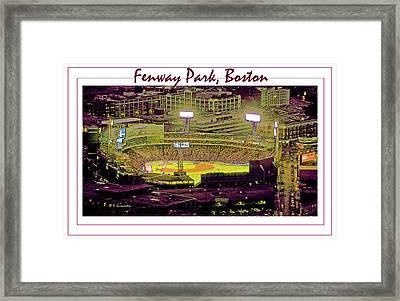 Fenway Park Boston Massachusetts Digital Art Framed Print by A Gurmankin