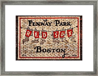 Fenway Park Boston Redsox Sign Framed Print by Bill Cannon