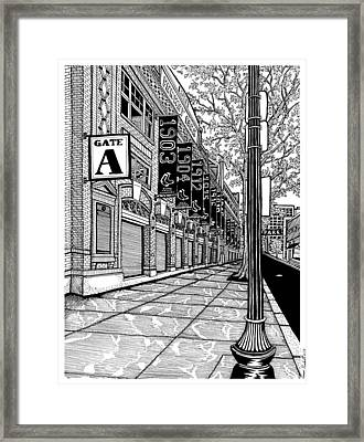 Fenway Park Framed Print by Conor Plunkett