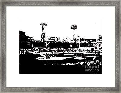 Fenway Park Drawing Framed Print by Rob Monte