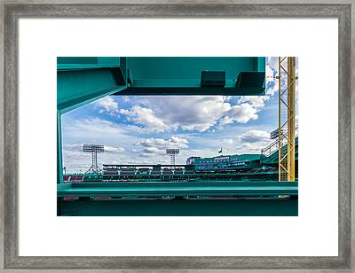 Fenway Park From The Green Monster Framed Print by Tom Gort
