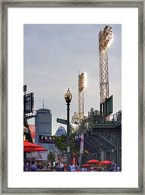 Fenway Park Game Day Framed Print