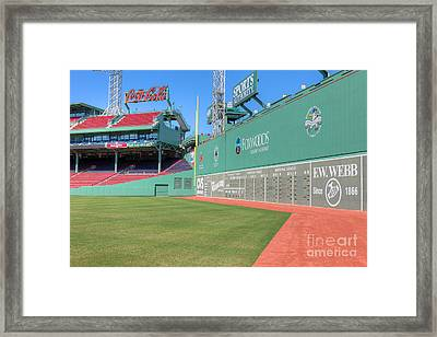 Fenway Park Green Monster I Framed Print by Clarence Holmes