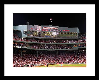 Night At The Ballpark Framed Prints