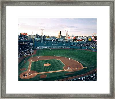 Fenway Park Photo - Inside View Framed Print