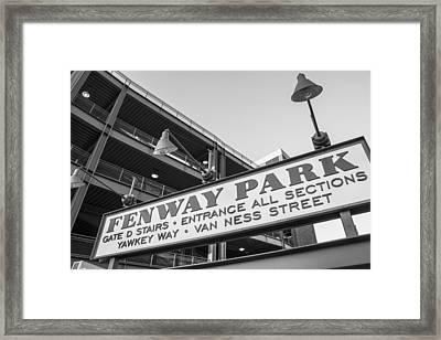 Fenway Park Sign Framed Print