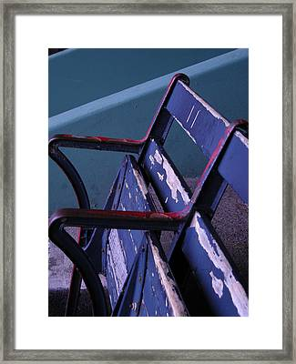 Fenway Park Third Base Seat Framed Print
