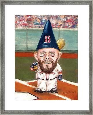 Fenway's Garden Gnome Framed Print by Jack Skinner