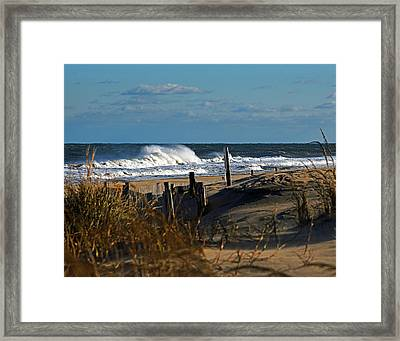 Fenwick Dunes And Waves Framed Print