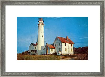 Fenwick Island Lighthouse 1950 Framed Print by Skip Willits