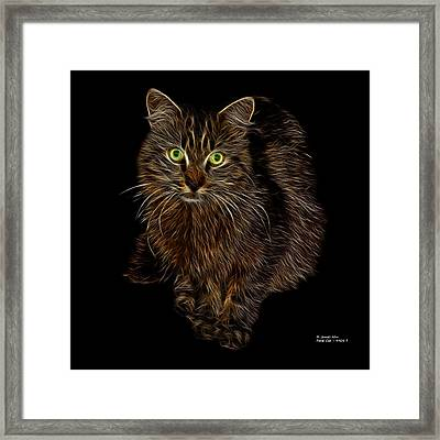Feral Cat - 9905 F Framed Print by James Ahn