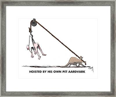 Feral Coot And His Aardvark Framed Print by R  Allen Swezey