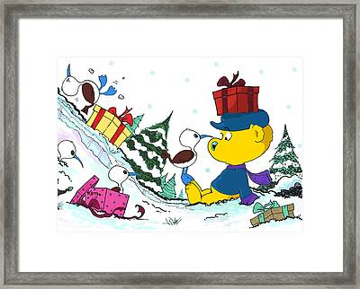 Ferald And The Boobies Framed Print by Keith Williams