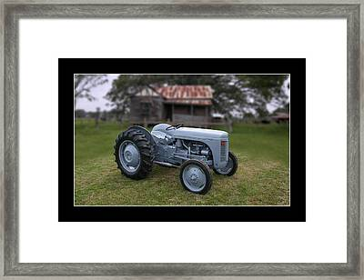 Framed Print featuring the photograph Fergie Tractor by Keith Hawley