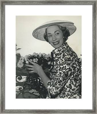 Ferguson Fabrics Used By Leading Designers For Spring Framed Print by Retro Images Archive