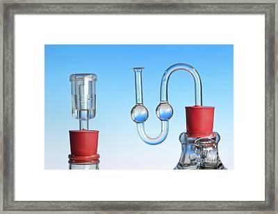 Fermentation Air Locks Framed Print by Martyn F. Chillmaid