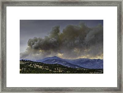 Fern Lake Fire Framed Print by Tom Wilbert