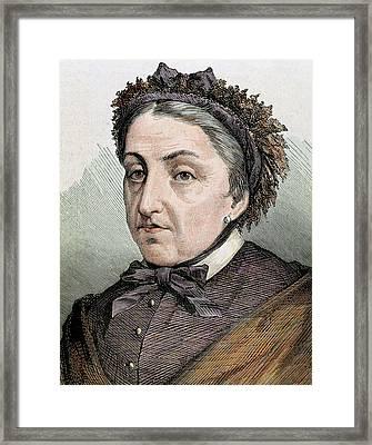 Fernan Caballero (1796 -1877 Framed Print