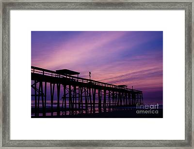 Fernandina Fishing Pier At Sunrise Framed Print by Dawna  Moore Photography
