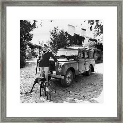 Fernando Fernandez Holding A Winchester Gun Framed Print by Leonard Nones
