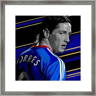Fernando Torres Chelsea Print Framed Print