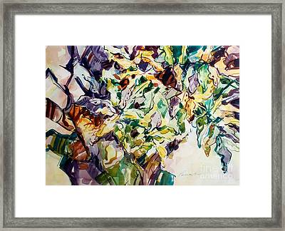 Framed Print featuring the painting Ferns And Bismark Lines  by Roger Parent