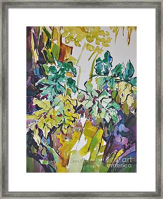 Framed Print featuring the painting Ferns On Hot Day by Roger Parent
