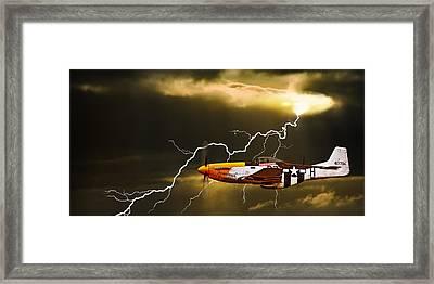 Ferocious Frankie In A Storm Framed Print