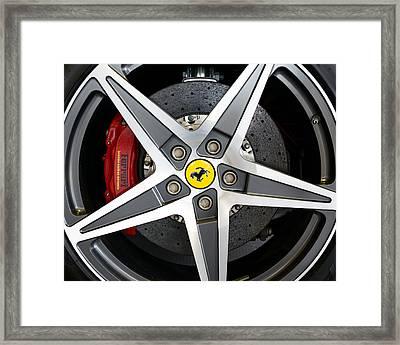Ferrari Alloy Framed Print