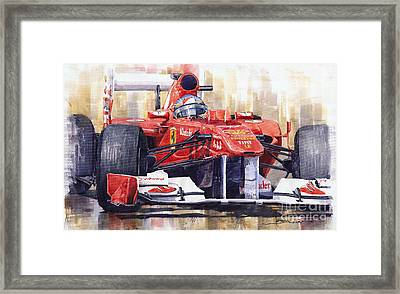 2011 Ferrari 150 Italia Fernando Alonso F1   Framed Print