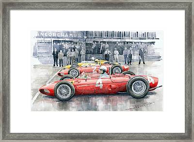 Ferrari 156 Sharknose 1961 Belgian Gp Framed Print