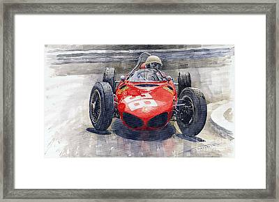 Ferrari 156 Sharknose Phil Hill Monaco 1961 Framed Print by Yuriy Shevchuk